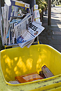 Rubbish, garbage, recycle, recycles, recycling, container, containers, paper, newspaper, newspapers, cardboard, box, boxes, cardboard box, cardboard boxes, bin, bins, Australia, Sport pictures, Sports, balloon images, hot air balloons