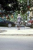 Australia, sa, south australia, people, woman, women, aged, old, elderly, old woman, old women, elderly woman, elderly women, aged people, old people, elderly people, walking stick, walking sticks, road, roads, city, cities.