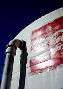 Australia, wa, western australia, two rocks, perth, tank, tanks, water, water tank, water tanks, sign, signs, coca cola, coca-cola, advertisement, advertisements, advertising.