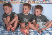 People, child, children, triplet, triplets, bed, beds, bedroom, bedrooms, boy, boys, male, males, identicalAustralia, Sport pictures, Sports, balloon images, hot air balloons