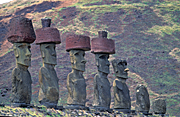 Easter Island, Chile, Latin America, Monolith, Monoliths, Ceremonial, Ceremonial site, Ceremonial sites, shrine, shrines, ceremonial shrine, ceremonial shrines, Historic site, Historic sites, megalithic, moais, sentinel, sentinels, rano raraku, anakena, statue, statues.