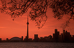 Canada, Toronto, Centre Island, Sunset, sunsets, sunrises and sunsets, mood, mood scene, mood scenes, architecture, tower, towers, CN tower, silhouette, silhouettes, FF25,