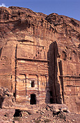 Architecture, Jordan, Middle East, Middle Eastern country, Middle Eastern Countries, Petra, Rose-red city, Rose red city, cliff, cliffs.