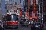 Canada, Toronto, Chinatown, tram, trams, transport, transportation, vehicle, vehicles, traffic, road, roads, sealed road, sealed roads, FF25,