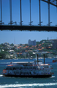 Australia, New South Wales, Architecture, arch, arches, archway, archways, Sydney, Sydney Harbour, Sydney Harbor, Sydney Harbour Bridge, Sydney Harbor Bridge, Sydney Harbour, Sydney Harbor, harbours, harbour bridge, bridge, bridges, showboat, showboats, FF25,