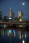 Australia, Vic, Victoria, Melbourne, Yarra, Yarra River, River, Rivers, night, nights, evening, evenings, moon, moons, the moon, FF25,