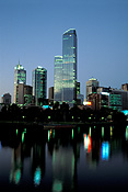 Australia, Vic, Victoria, Melbourne, Yarra, Yarra River, River, Rivers, night, nights, evening, evenings, skyscraper, skyscrapers, highrise, highrise building, highrise buildings, FF25,