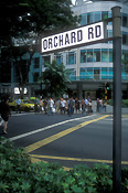 Singapore, road, roads, city, cities, orchard road, sealed, sealed road, sealed roads, pedestrian, pedestrians, pedestrian crossing, pedestraian crossings, road sign, road signs, roadsign, roadsigns, sign, signs, FF25,
