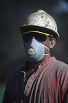 Men, man, occupation, occupations, miner, miners, gold industry, driller, drillers, helmet, helmets, safety helmet, safety helmets, mask, masks, face mask, face masks, sunglasses, sun glasses, portrait, portraits, people.