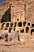 Jordan, Middle East, Middle Eastern country, Middle Eastern Countries, Petra, tomb, tombs, urn, urn tomb, urn tombs, arch, arches, archway, archways, cliff, cliffs.