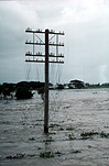 Climate, disaster, disasters, natural disaster, natural disasters, weather, flood, floods, flooding, flooded, river, rivers, water, rural, rural scene, rural scenes, nsw, new South Wales, australia, power line, power lines, power pole, power poles, electricity, electricity pole, electricity poles, danger, dangerous, electrocution.