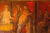 Italy, pompeii, ruin, ruins, frieze, villa, villas, villa of the mysteries, mystery, mysteries.