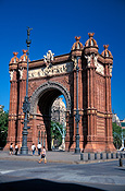 Europe, spain, barcelona, arch, arches, archway, archways, architecture, spanish, arch of triumph, spanish, FF25,