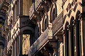 Europe, spain, barcelona, architecture, la ramblas, arch, arches, archway, archways, balcony, balconies, FF25,