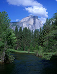 America, USA, United States, United States of America, California, National Park, National Parks, Yosemite, Yosemite NP, Yosemite National Park, mountain, mountains, half dome, cloud, clouds, river, rivers, water, FF25,