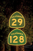 Sign, signs, road sign, road signs, usa, america, united states, napa valley, highway, highways, california, road, roads, FF25,