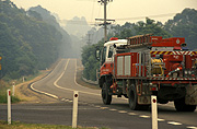 Fire, Fires, bushfire, bushfires, heavy vehicle, heavy vehicles, fire engine, fire engines, fire-engines, fire brigade, fire brigades, truck, trucks, fire truck, fire trucks, emergency services, disaster, disasters, Australia, New South Wales, hawkesbury, hawkesbury area, hawkesbury region, hawkesbury district, Hawkesbury, Hawkesbury Valley, NSW, New South Wales, Australia, emergency vehicle, emergency vehicles, road, roads, sealed road, sealed roads, bend, bends.