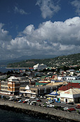Caribbean, Caribbean Islands, Dominica, roseau, transport, transportation, vehicle, vehicles, ship, ships, shipping, vessel, vessels, cruise, cruises, cruise ship, cruise ships, port, ports, cloud, clouds, storm cloud, storms clouds, FF25,