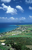 Caribbean, Caribbean Islands, Saint Kitts, St Kitts, Brimstone Hill, Brimstone Hill Fortress, Fort, Forts, Fortress, Fortresses, hill, hills, green hill, green hills, coast, coasts, coastline, coastlines, FF25,