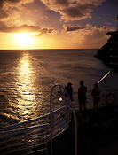 Transport, transportation, vehicle, vehicles, ship, ships, shipping, vessel, vessels, people, outdoors, sunset, sunsets, sunrises and sunsets, stern, cruise ship, cruise ships, liner, liners, cruise liner, cruise liners, caribbean, the caribbean, cloud, clouds, FF25,