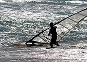 Australia, wa, western australia, perth, beach, beaches, scarborough, scarborough beach, water, surfer, surfers, windsurfer, windsurfers, windsurfing, silhouette, silhouettes, people, man, men, male, males, outdoors, Sport pictures, Sports.