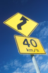 Sign, Signs, roadsign, roadsigns, road sign, road signs, bend, bends, warning sign, warning signs, speed restriction, speed restrictions, Arrow, arrows, australia, speed, speed sign, speed signs.