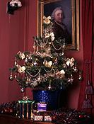 Tree, trees, christmas, christmas tree, christmas trees, christmas scene, christmas scenes, christmas decoration, christmas decorations, picture, pictures, painting, paintings, house, houses, interiors, present, presents, gift, gifts, christmas present, christmas presents, box, boxes, am04,