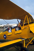 Transport, transportation, vehicle, vehicles, vintage plane, vintage planes, biplane, biplanes, bi-plane, bi-planes, plane, planes, aircraft, aircraft, tiger moth, tiger moths, newcastle, NSW, New South Wales, Australia, aviation, people, man, men, male, males, pilot, pilots.