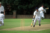 Sport pictures, Sports, cricket, cricket game, cricket games, cricket match, cricket matches, boy, boys, male, males, cricket bat, cricket bats, hat, hats, cap, caps, run, runs, running, outdoors.