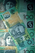 Cash, money, bank note, bank notes, australian bank note, australian bank notes, Australian money, dollar, dollars, 100 dollars, currency, Australian currency, tender, legal tender, Australian tender, one hundred dollars, australia, australian, bank note, bank notes.