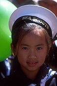 People, child, children, girl, girls, female, females, hat, hats, costume, costumes, celebration, celebrations, festival, festivals, new year, chinese new year, sydney, nsw, new South Wales, australia, portrait, portraits, asian, asians, scout, scouts, sea scout, sea scouts.