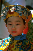 People, child, children, boy, boys, hat, hats, costume, costumes, celebration, celebrations, festival, festivals, new year, chinese new year, sydney, nsw, new South Wales, australia, portrait, portraits, asian, asians.