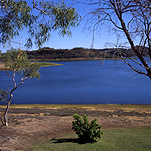 Australia, queensland, qld, lake, lakes, water, moondarra, lake moondarra, tree, trees.