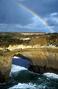 Australia, victoria, VIC, National Park, National Parks, port campbell, port campbell national park, loch ard gorge, australian beaches, vic beaches, victorian beaches, coast, coastal, coastline, coastlines, limestone, limestone cliffs, gorge, gorges, loch ard, rainbow, rainbows, weather.