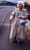 People, woman, women, female, females, old woman, old women, old people, elderly, elderly people, elderly woman, elderly women, old, elderly, aged, walking stick, walking sticks, Australia, Sport pictures, Sports, balloon images, hot air balloons