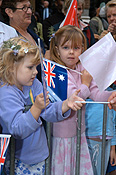 Australia, New South Wales, sydney, crowd, crowds, Anzac, Anzacs, Anzac Day, Anzac Days, parade, parades, Anzac Day parade, Anzac Day parades, Anzac Day March, people, child, children, girl, girls, female, females, flag, flags, australian flag, australian flags.
