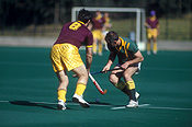Australia, Sport pictures, Sports, hockey, hockey game, hockey games, man, men, male, males, outdoors, goal post, goal posts, goalpost, goalposts.