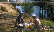 People, Australia, New South Wales, picnic, picnics, woman, women, elderly, aged, old.
