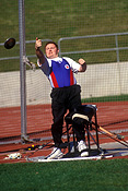 Australia, Sport pictures, Sports, man, men, male, males, disabled people, disabled, disability, disabilities, disabled sport, disabled sports, australia, handicapped, handicapped people, handicapped sports, paraplegic, paraplegics, athlete, athlets, discus, discus throwing.
