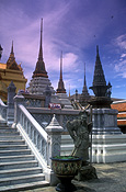 Asia, thailand, bangkok, architecture, palace, palaces, grand palace, statue, statues, step, steps, stairs, staircase, staircases.