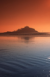 Europe, Western Europe, UK, Britain, British Isles, England, United Kingdom, Great Britain, Cornwall, St Michael's Mount, Castle, Castles, Island, Islands, St Michaels Mount, Michaels Mount, Sunset, sunsets, sunrises and sunsets, mood, mood scene, mood scenes, sunrises and sunsets, AM04,