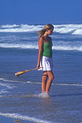 Australia, New South Wales, beach, beaches, coast, coasts, coastline, coastlines, shoreline, shorelines, seashore, seashores, people, child, children, puberty, teenager, teenagers, teenage girl, teenage girls, adolescent, adolescents, female, females, Royalty Free Image