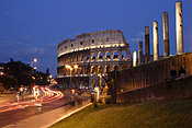 Europe, Italy, Italian, Rome, architecture, colloseum, the colloseum, ruin, ruins, light, lights, lamp, lamps, street light, street lights, street lamp, street lamps, column, columns, pillar, pillars, arch, arches, archway, archways, architecture, FF25,