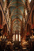 Poland, Cracow, krakow, arch, arches, archway, archways, architecture, church, churches, religion, religious, religious building, religious buildings, st mary, saint mary, church of st mary, church of saint mary, saint, saints, interior, interiors, FF25,
