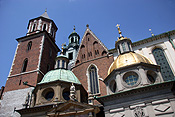 Poland, krakow, cracow, architecture, church, churches, cathedral, cathedrals, royal cathedral, religious, religious building, religious buildings, wawel, wawell hill, dome, domes, window, windows, cross, crosses, FF25,