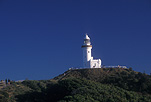 Architecture, Australia, New South Wales, Byron Bay, Cape Byron, Byron Bay lighthouse, Cape Byron Lighthouse, lighthouse, lighthouses, navigation, navigational aid, navigational aids, lightstation, lightstations, sky, skies, blue sky, blue skies.