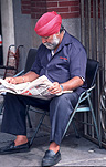 Asia, Asian, Southeast Asia, South East Asian, SE Asia, malaysia, man, men, male, males, reading, newspapers, newspaper, turban, turbans, indian, clothing, headwear, beard, beards, communications, media.