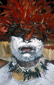 New guinea, papua new guinea, mount hagen, mt hagen, mount hagen show, mt hagen show, ceremony, ceremonies, man, men, male, males, hat, hats, jewellery, necklace, necklaces, people, performer, performers, tribe, tribes, tribal, feather, feathers, hat, hats, portrait, portrais.