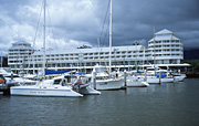 Australia, Cairns harbour, Leisure craft, Boating, Yachts, Harbour scenes