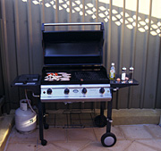 Australia, barbeque, barbies, outdoor eating, food, fences